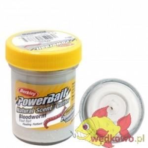 CIASTO BERKLEY NATURAL GLITTER TROUT BAIT 50g bloodworm  white