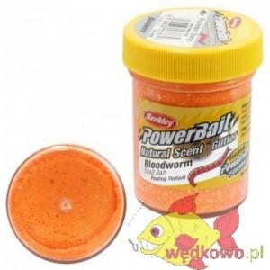 CIASTO BERKLEY NATURAL GLITTER TROUT BAIT 50g bloodworm fluo