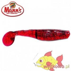 MANN'S M-056 7,0CM PU WIŚNIOWY Z NIEBIESKIM BROKATEM