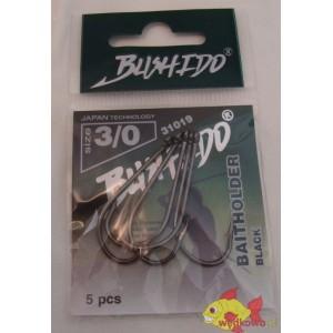 BUSHIDO BAITHOLDER BLACK SIZE 3/0